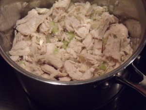 turkey simmering